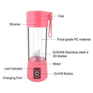 Image 4 - WXB נייד בלנדר usb מיקסר מסחטה חשמלית מכונה שייק בלנדר מיני מזון מעבד אישי בלנדר כוס מיץ בלנדרים