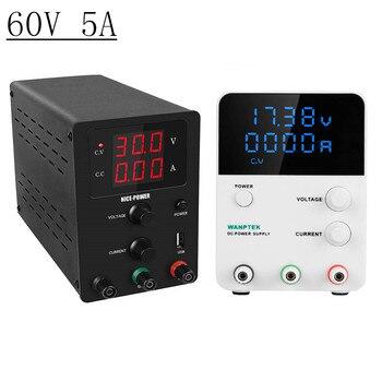 DC Regulated Laboratory POWER-SUPPLY Adjustable 60V 5A Lab Voltage Regulator LED Display Stabilizer Switching Bench Source 60V