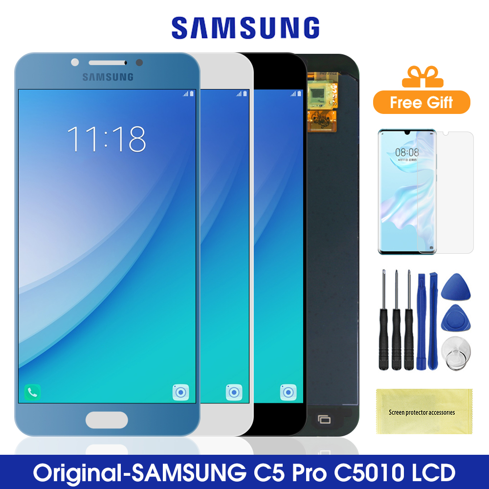 5.2'' Original <font><b>C5</b></font> <font><b>Pro</b></font> Lcdm <font><b>for</b></font> <font><b>SAMSUNG</b></font> <font><b>Galaxy</b></font> <font><b>C5</b></font> <font><b>Pro</b></font> C5010 <font><b>LCD</b></font> Touch <font><b>Screen</b></font> Digitizer Assembly Replacement <font><b>For</b></font> <font><b>Samsung</b></font> C5010 image