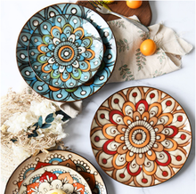 Ручной росписью керамические пластины круглое блюдо дома Западная