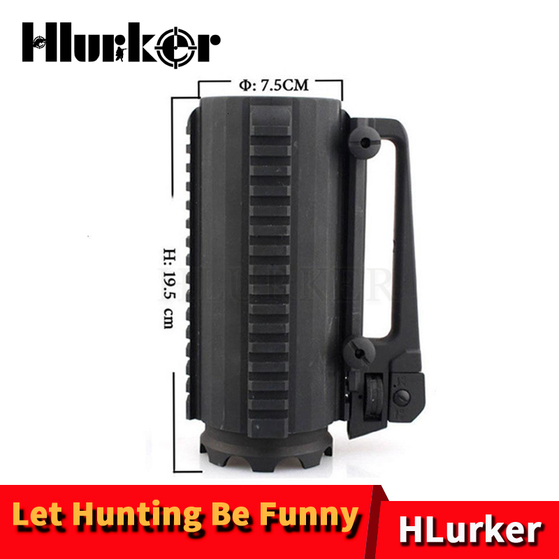 Hlurker Tactical Detachable Battle Mug Cup Multifunction Beer Cup Fun Beer Mug With Tri-side 20mm Picatinny Rail For Hunting