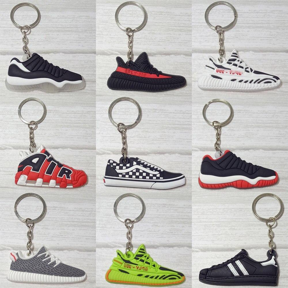 Mini Silicone Keychain Llaveros Key Chain Ring Bag Charm Key Holder Porte Clef Marvel Llavero Shoe Chaveiro