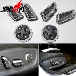 6 個 ABS クロームシート調整ボタンスイッチカバーフォルクスワーゲン VW パサート CC B7 ティグアン 2010-2015 ブラック & ベージュ色