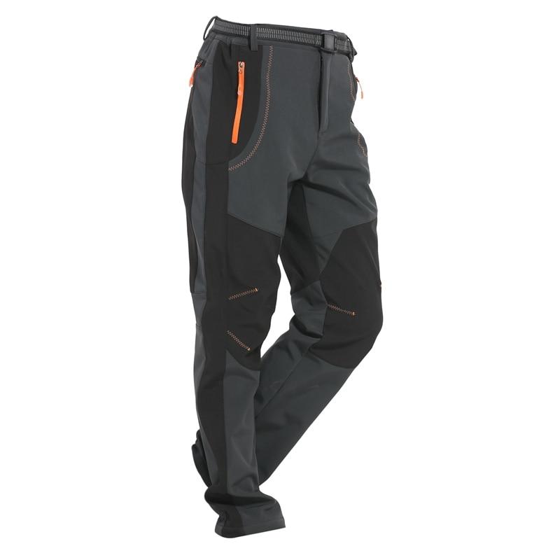 Winter Men Women Hiking Pants Outdoor Softshell Trousers Waterproof Windproof For Camping Ski Climbing XXXL
