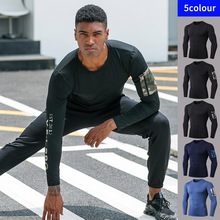 Exercise Running-Tights Long-Sleeve Fitness Sports Pocket Men 91501 Speed-Dry Camouflage