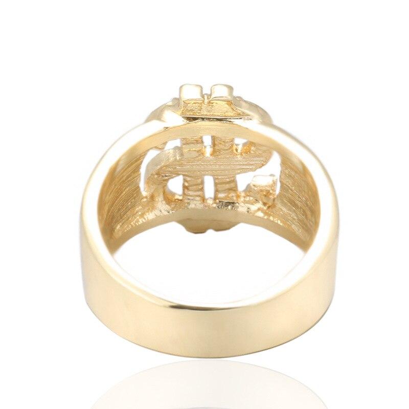 VA-47 cadeau homme bague bijoux hip hop Rock Dollar américain signe creux anneaux mode homme bague livraison gratuite