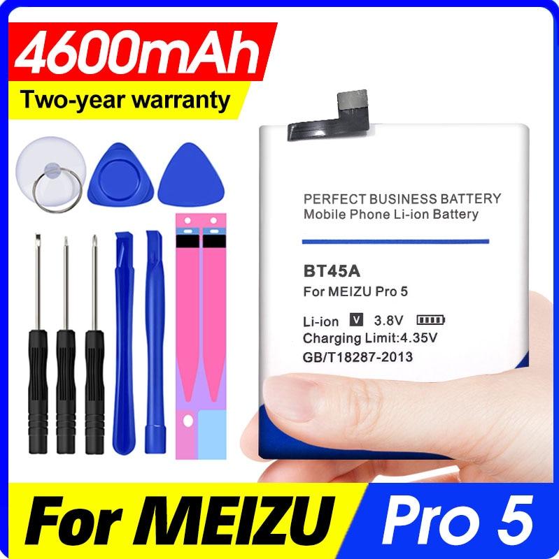 Bateria bt45a 4600 mah substituição celular backup de baterias para meizu pro 5