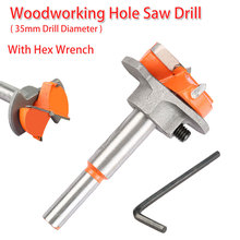 Wooden Cutter 35mm Forstner Auger Drill Bit Hex Wrench Woodworking Hole Opener Saw Woodwork Core Milling Cutter Hinge Hand Tool