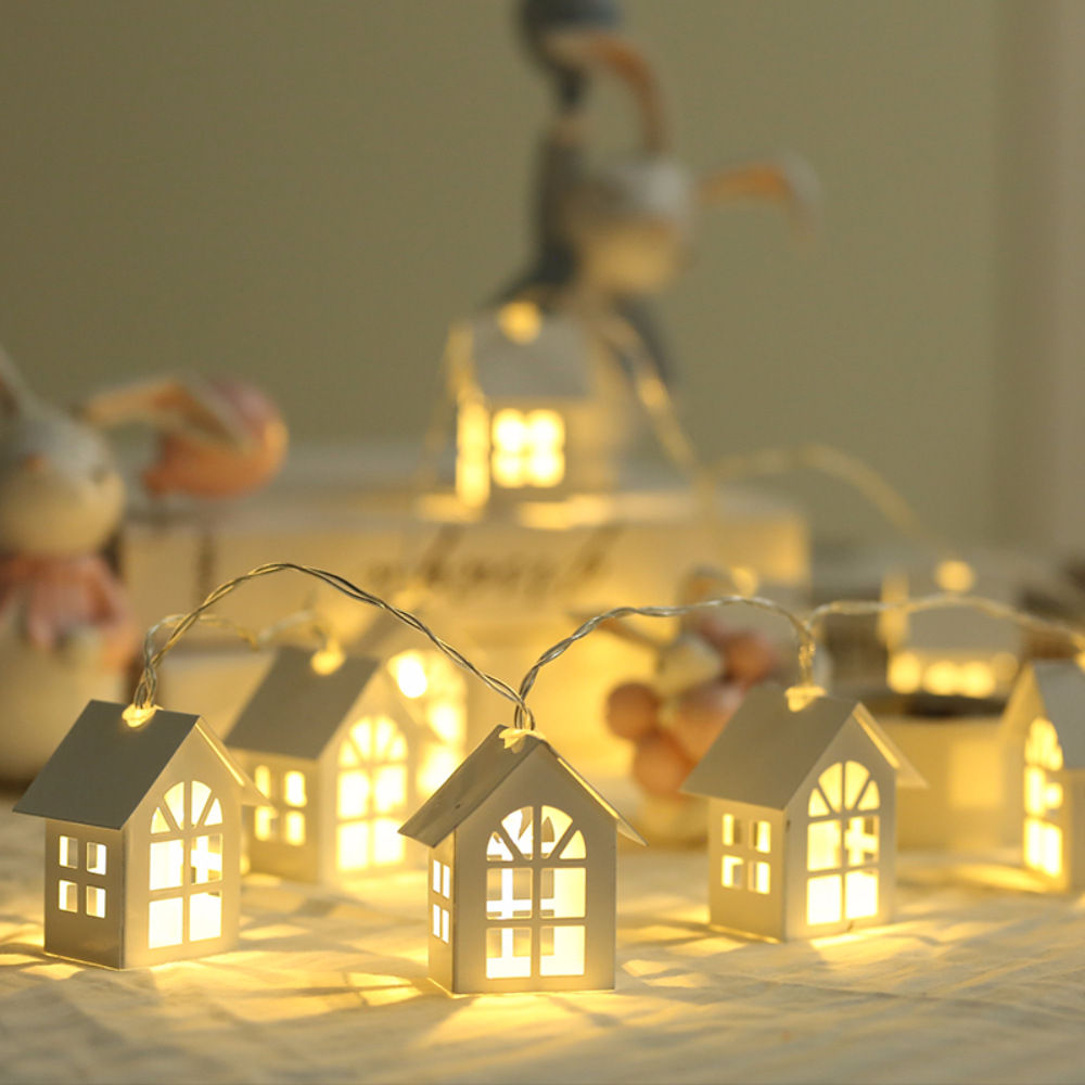 2M LED String Light Garland Wood House String Lights 10LEDs Room Decor String Lamp Wedding Party Holiday Novelty Fairy Lights