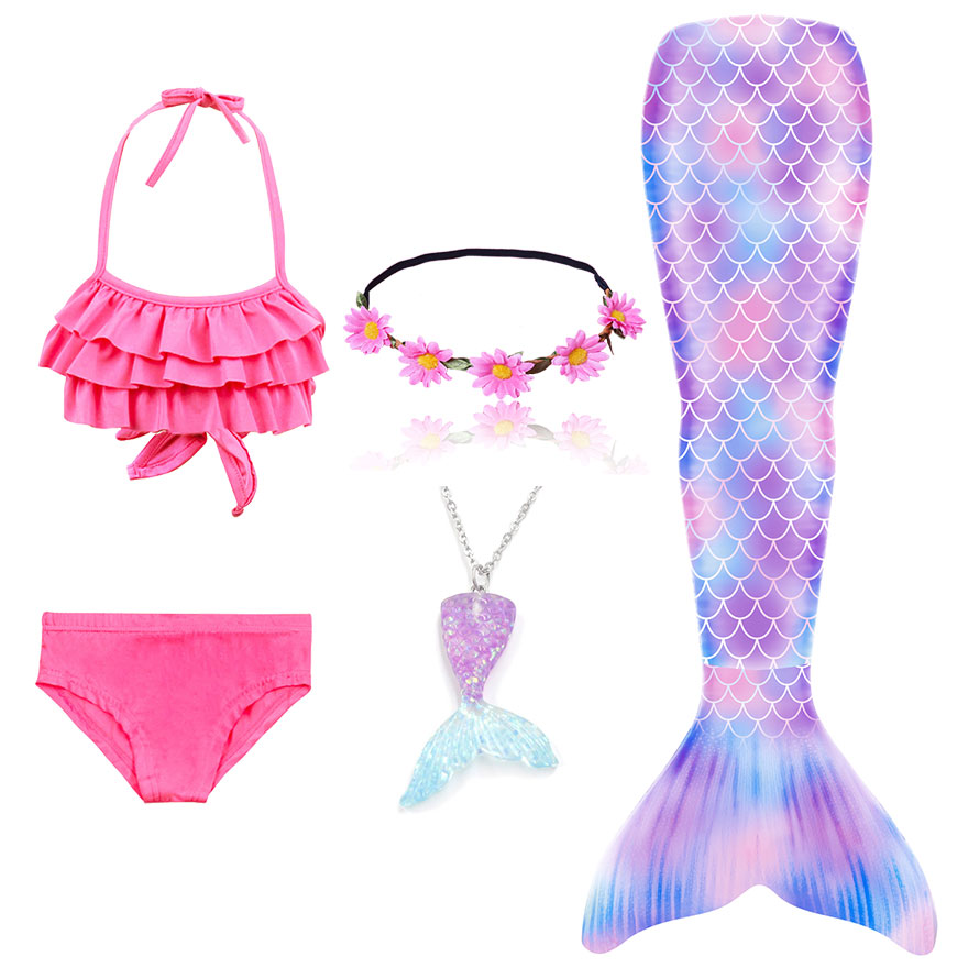 Heed55f54a91041299730be250903a3fdn - Kids Swimmable Mermaid Tail for Girls Swimming Bating Suit Mermaid Costume Swimsuit can add Monofin Fin Goggle with Garland
