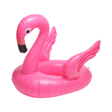 Inflatable flamingo swimming ring seat children's water mounts floating row kids lifebuoy swimming laps water toys pool floats