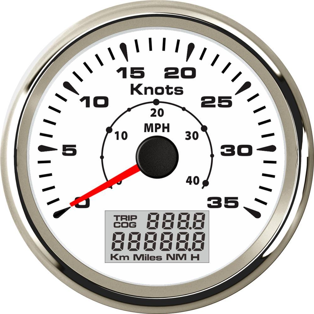 0-35knots 0-40MPH 85mm Waterproof GPS Speedometer Speed Odometers Gauge for Boat