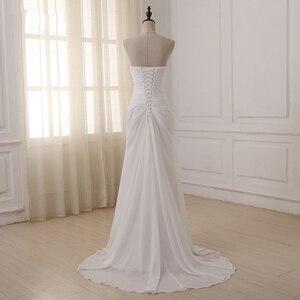 Image 2 - Jiayigong robe de mariée, robe de mariée, style Boho, sans manches, plissée avec Train de balayage, robe de mariage, été, plage, grande taille