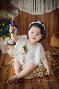 Image 5 - Jane Z Ann French style lace flower dress baby girl newborn/1 2 year/100 days   photography prop studio shooting accessories