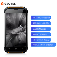 GEOTEL G1 5 inch 3G Smartphone Android 7.0 2GB RAM 16GB ROM MTK6580A 4 core 1.3GHz Water resistant 7500mAh Mobile Cellphones