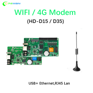 Image 3 - Best price Huidu HD D35 with HUB75 D15 taxi roof bus full color rgb led sign panel controller card with WIFI 4G wireless GPS
