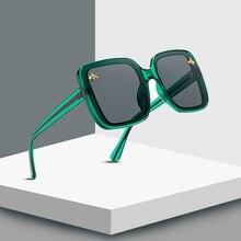 2019 Fashion Square Frame Bee Sunglasses Men Women Luxury Brand