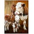 5D алмазная живопись «сделай сам», корова, животное, бык, полностью квадратная, круглая, алмазная вышивка из смолы, вышивка крестиком Стразы, ...