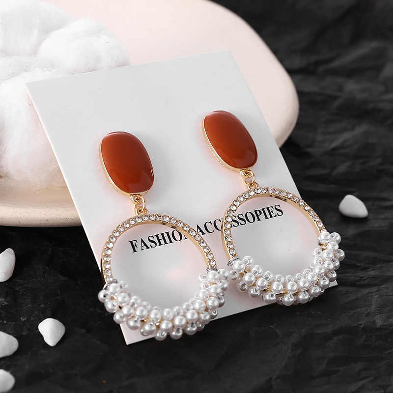 VOHE 2019 Novelty Clip On Earrings Without Piercing For Women Wedding Party Hollow Ear Clip Trendy Fashion Jewelry