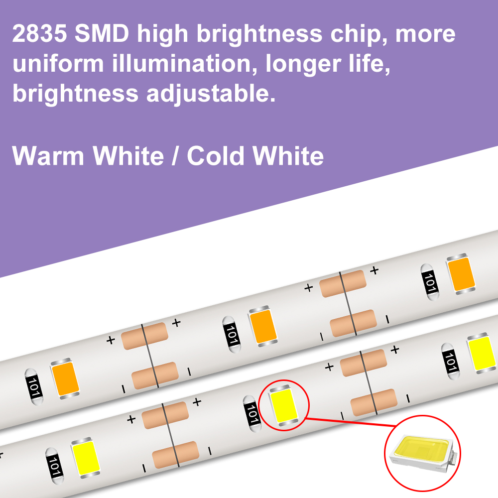 5V Makeup Vanity Cabinet Mirror Light Maquillaje Led Dressing Table TV USB Led Strip Light Wall Lamp Flexible Light Tape 2835SMD in LED Indoor Wall Lamps from Lights Lighting