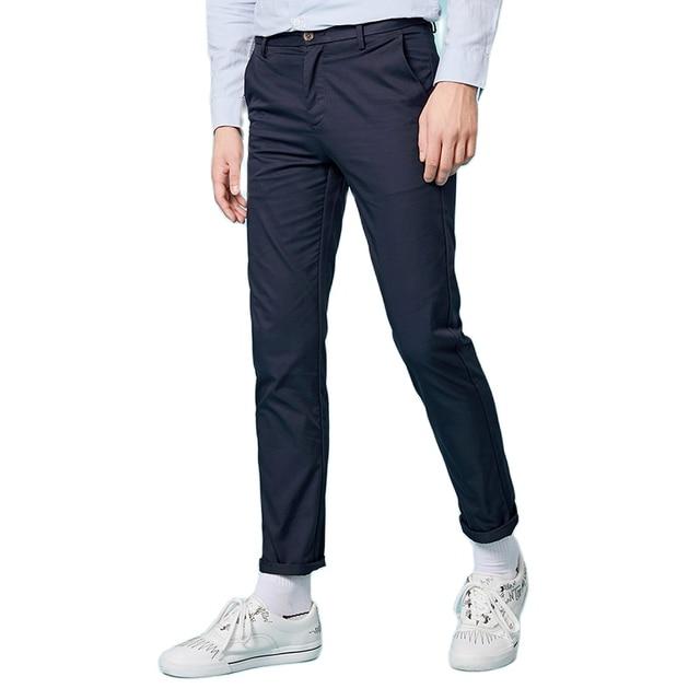 Semir 2019 primavera inverno novas calças casuais dos homens de algodão fino ajuste chinos moda calças masculinas marca roupas plus size negócios