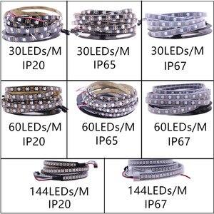 Image 5 - 1 m/5 m WS2812B الذكية led بكسل قطاع ، الأسود/الأبيض PCB ، 30/60/144 المصابيح/m WS2812 IC. WS2812B/M 30/60/144 بكسل ، IP30/IP65/IP67 DC5V