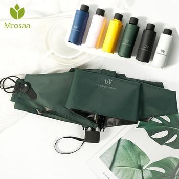 Mrosaa Small Fashion Folding Umbrella Rain Women Gift Men Mini Pocket Parasol Girls Anti-UV Waterproof Portable Travel UMBRELLAS
