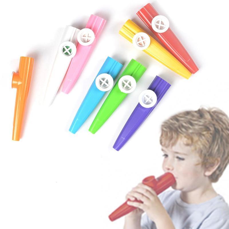 New Plastic Kazoo Children's Music Party Musical Instrument Orff Percussion Color Random Kazoo