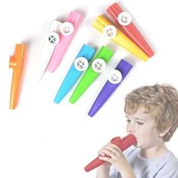 New plastic Kazoo children's music party musical instrument Orff percussion color random Kazoo фото