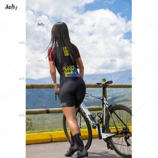 Kafitt das mulheres colômbia preto profissional de manga curta casal ciclismo triathlon terno ciclismo conjunto skinsuit maillot ropa ciclismo conjunto feminino ciclismo macacao ciclismo roupas com frete gratis 4