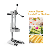 ITOP Vertical Manual Potato Chips Cutter Vegetable Fruit Slicer Knife MH003 With 8mm 10mm 12mm Blades