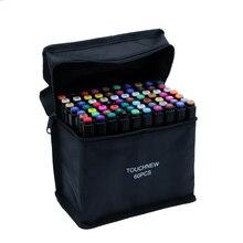 TouchFive Art Markers168 ألوان الحبر القائم على الكحول رسم 80 لون قلم تحديد للفنان رسم المانغا الرسوم المتحركة الفن اللوازم