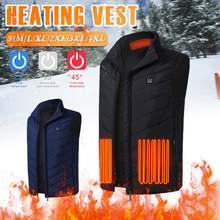 Теплый жилет куртка с 9 зонами нагрева usb мужская зимняя без