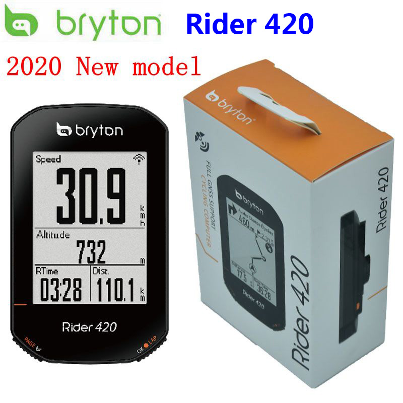 Bryton Rider 420 GPS 사이클링 컴퓨터 사용 자전거/자전거 컴퓨터 및 Bryton mount 방수 무선 속도계 New 2020