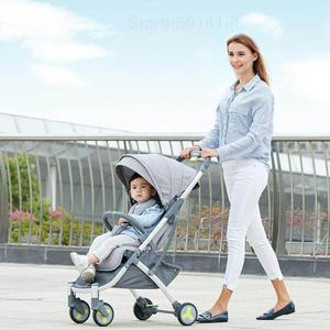 Image 5 - Passeggino multifunzionale passeggino ad alto paesaggio passeggino pieghevole passeggino neonato aereo leggero