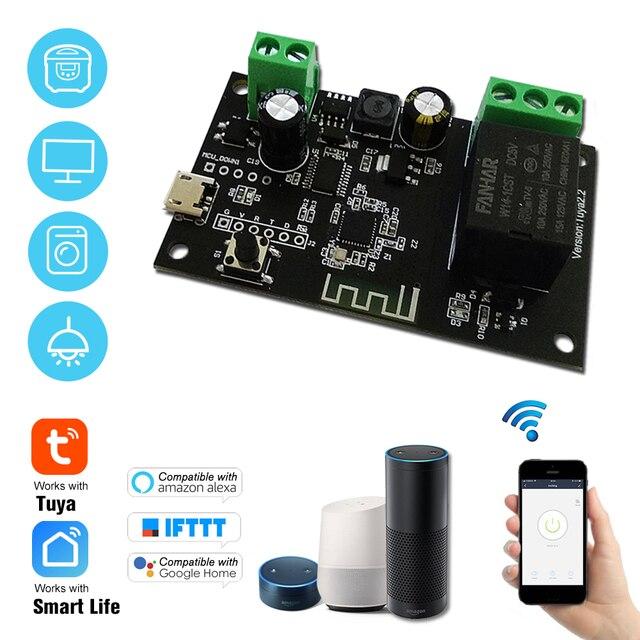 チュウヤDC5V 12v 24v 32 wifiスイッチ無線中継モジュール単一方向インチング/自己ロックタイミングリモートスイッチappリモコン