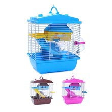 Pet cage hamster cottage with transparent skylight double layer