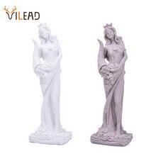 VILEAD Arenaria Statua della Fortuna Ricchezza Figurine Creativo Dea In Miniatura Bianco Statuetta Vintage Complementi Arredo Casa Souvenir