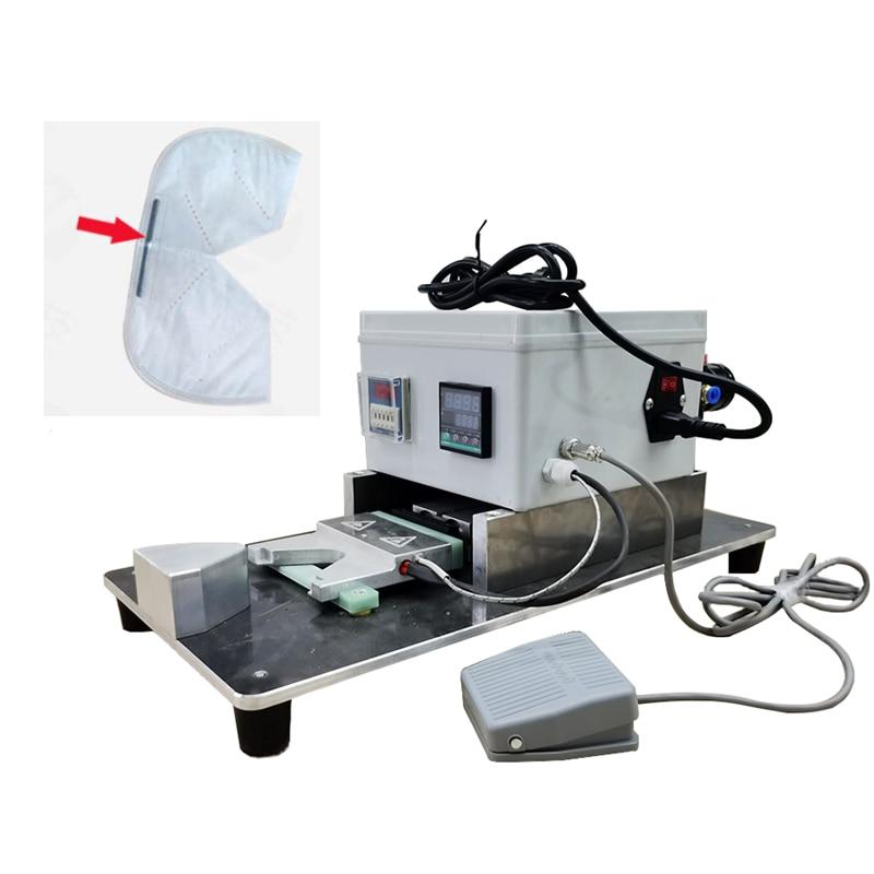 KN95 Mask Nose Clip Welding Machine Hot Pressing Machine With Hot Melt Aluminum Nose Clip