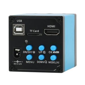 Image 3 - حامل منضدة من الألومنيوم بكاميرا ميكروسكوب للفيديو 20 ميجابكسل HDMI USB 3.5X 90X مجهر ستريو ثلاثي العينيات