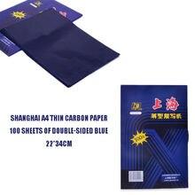 A4 100 sheets dark blue carbon hand copier stencil transfer