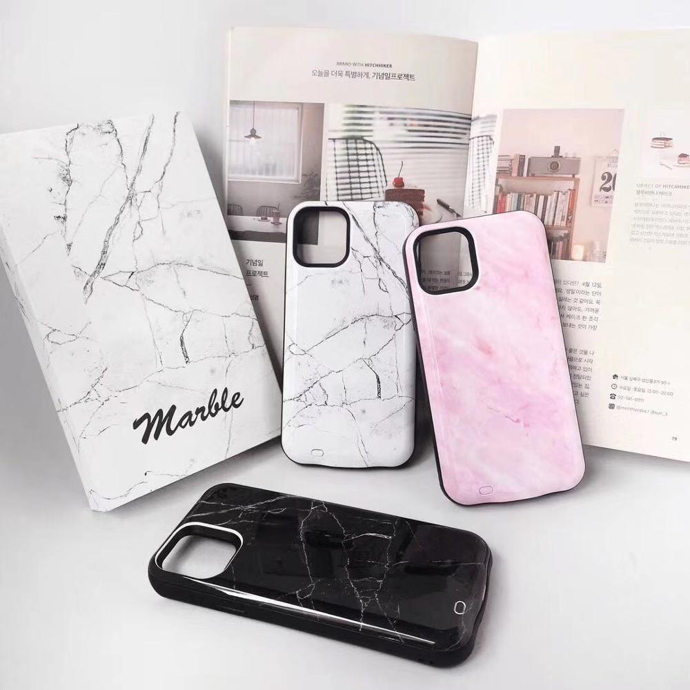 Juice Pack Battery Charger Case For Iphone 11 6000Mah Battery Charger For Iphone 11 Charging Marble Pattern Phone Cover Case
