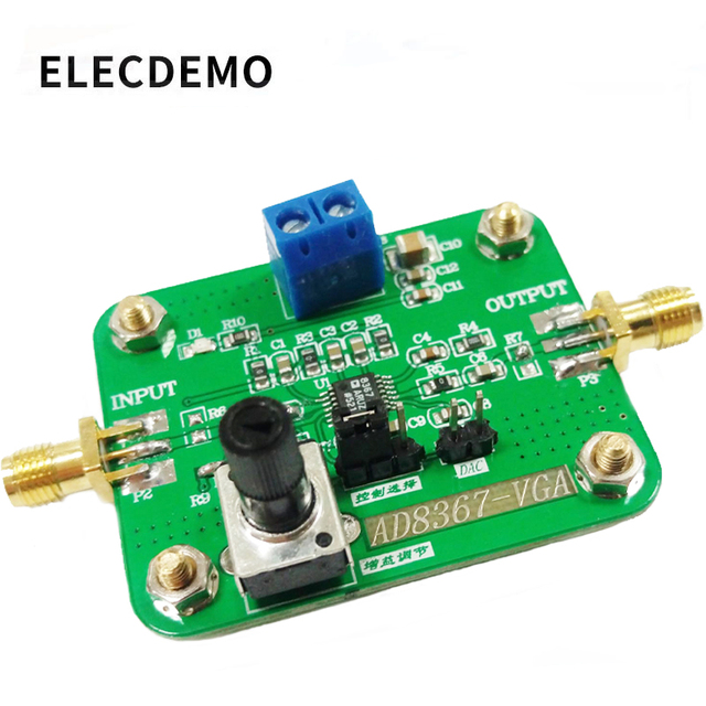 Ad8367 módulo autêntico garantia 500 mhz 45db linear variável ganho amplificador função demonstração placa