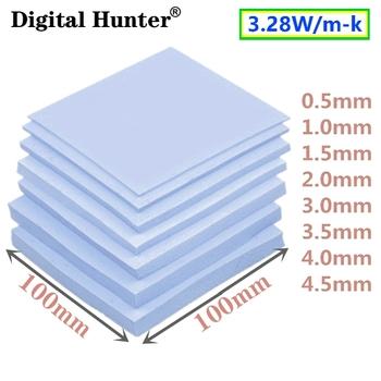 Wysokiej jakości 100*100mm GPU CPU IC podkładka termiczna do pamięci elektroniczny chip mały radiator tanie i dobre opinie Digital Hunter CN (pochodzenie) LC120 100mm*100mm