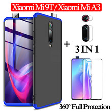 3-in-1 Glass + 360 Armor Case for Xiaomi-Mi-9T Full Protection Case Xiaomi