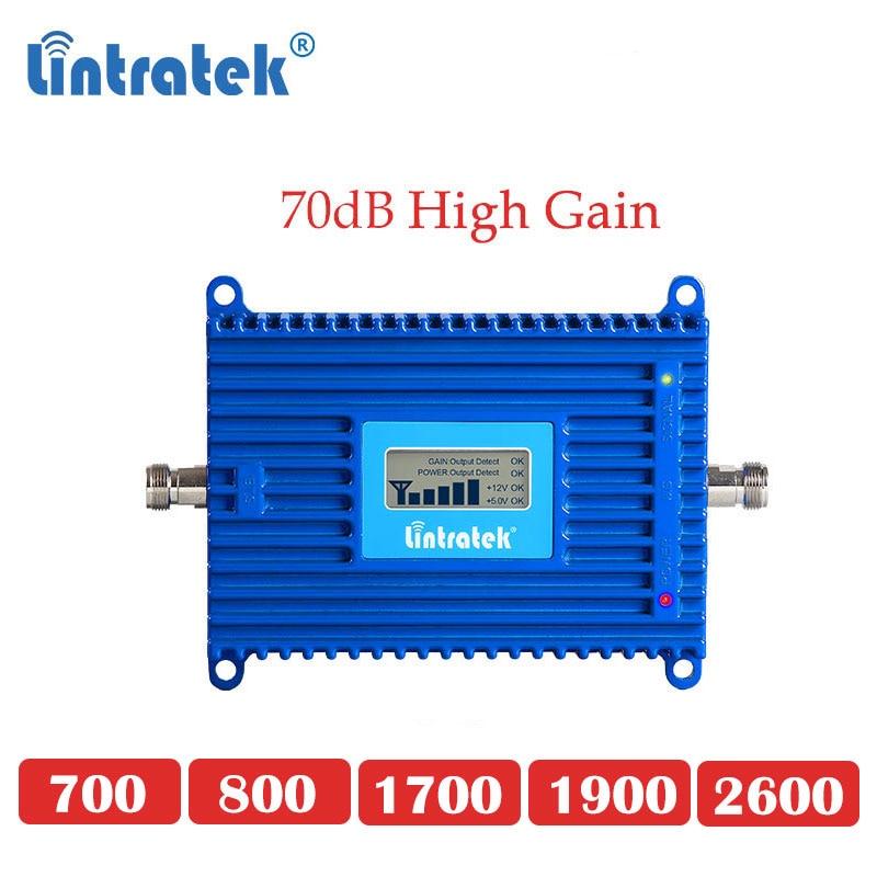 2600mhz 4g Lte Cellular Booster Lte 800 700 B12 B13 1700 1900 LTE 2600 4g Cellphone Repeater Signal Gsm 3g 4g Umts Amplifier Dd