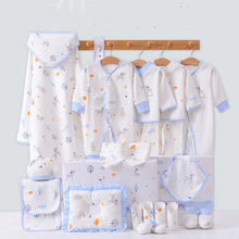 Four Seasons Soft Combed Cotton Cute Cartoon Printing Full Moon Supplies Newborn Sets Kid Boy Girl Costume Without Box XB156