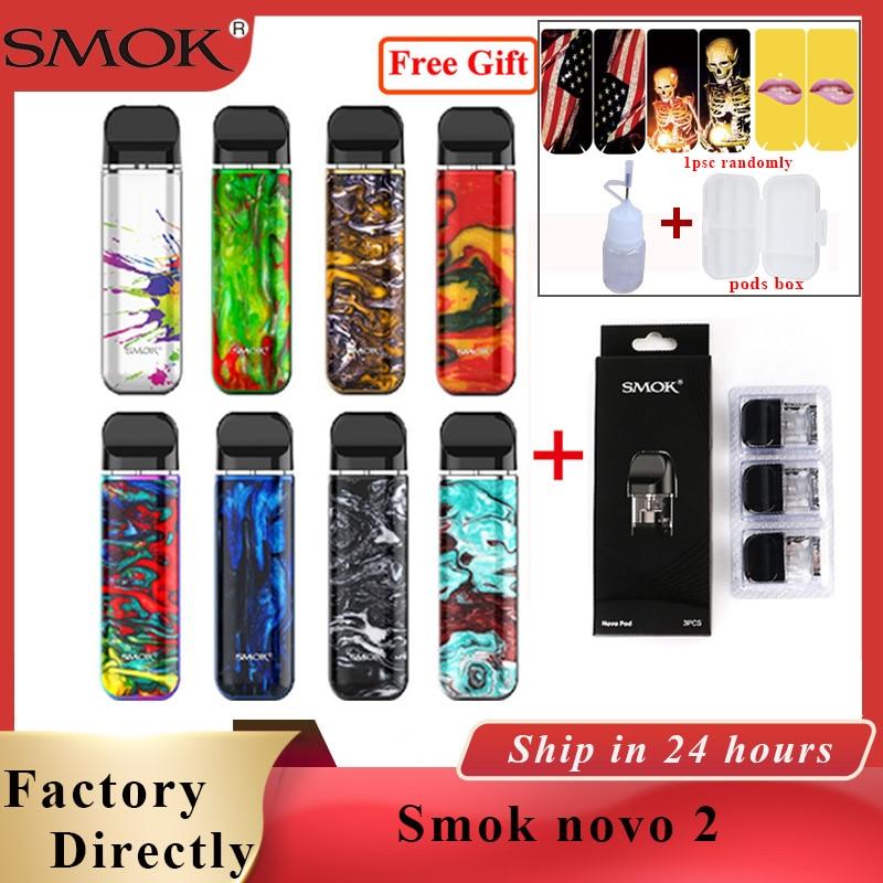 Original SMOK novo kit sistema pod 2 2ml & 800mAh bateria cigarro Eletrônico vape caber MTL pod Pod novo kit vs smok 2 nord