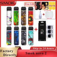 Original SMOK novo 2 kit pod system 2ml & 800mAh battery Electronic  cigarette pod vape fit MTL Pod novo 2 kit vs smok nord