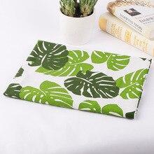 100*150 см льняная ткань черепаха бамбуковые с принтами ткань наволочка для дома Настольная ткань для дивана украшения фона